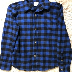 Boys size 7x Plaid Flannel button up